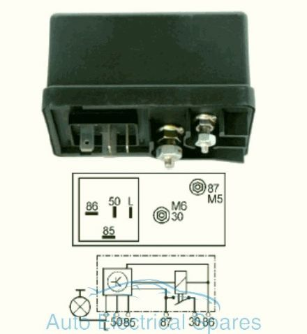 160425 glow plug relay replaces Lucas HDC103
